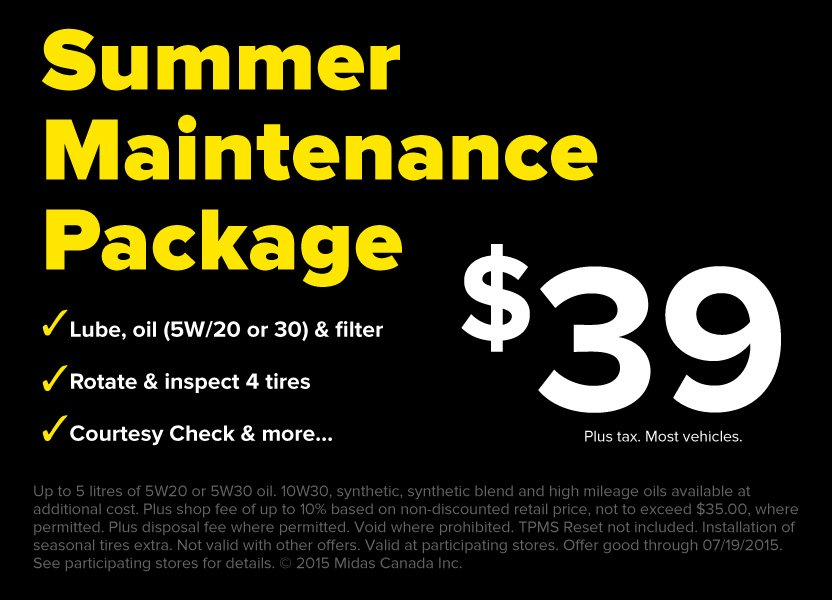 Summer Maintenance Package