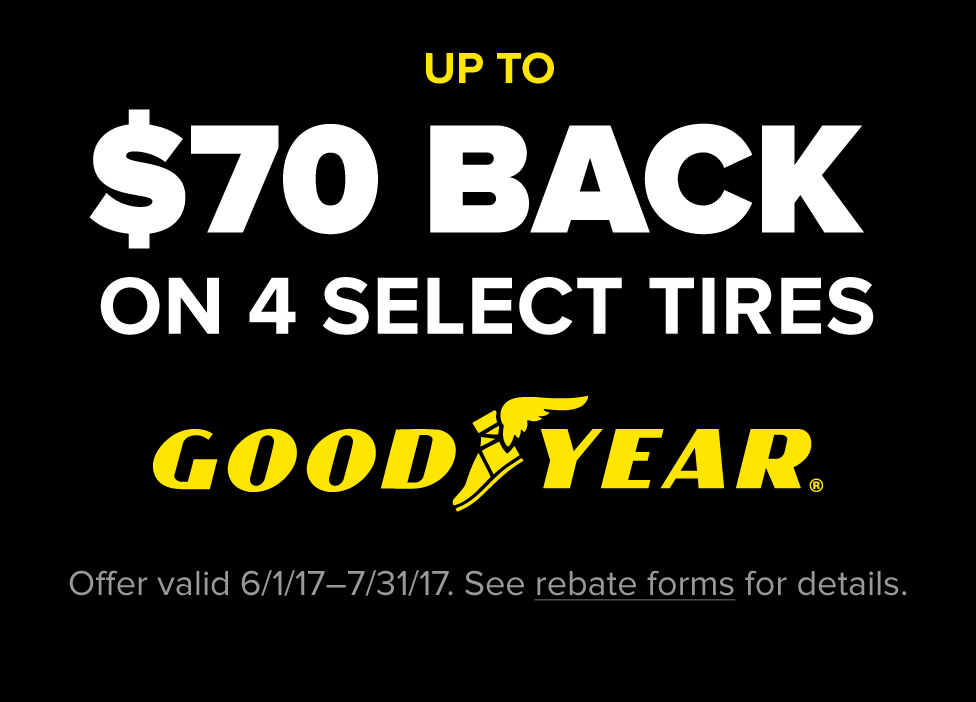 Up to $70 Goodyear Rebate