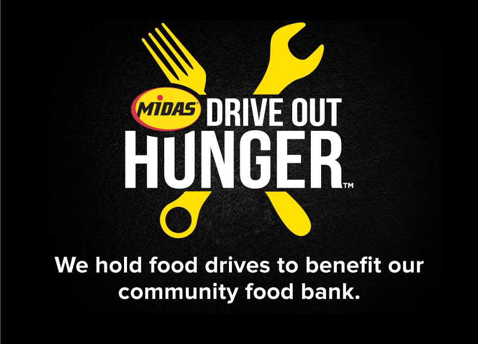 Drive Out Hunger. We hold food drives to benefit out community food bank.
