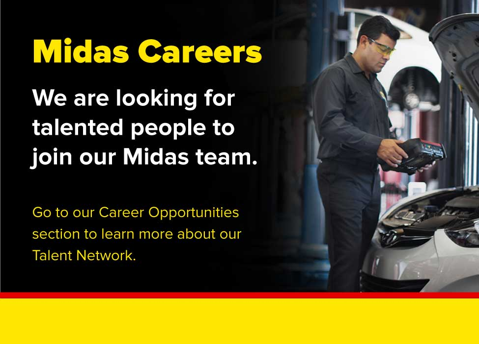 Midas Careers. We are looking for talented people to join our Midas team. Go to our career opportunities section to learn more about our talent network.