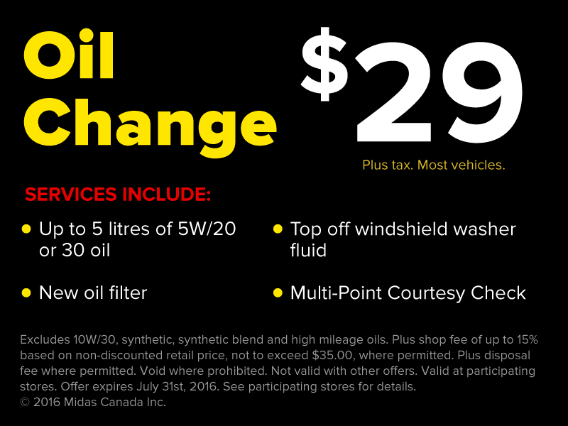 $29 Oil Change Offer