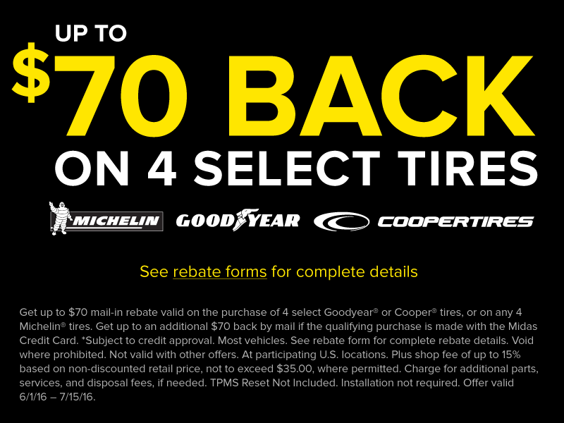 Up to $70 Off Select Tires
