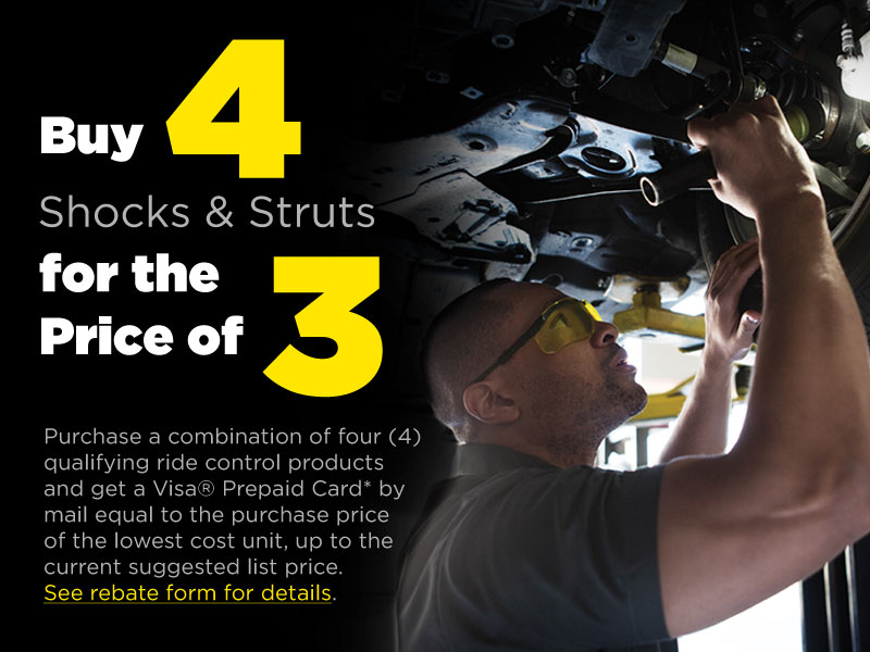 Buy 4 Shocks & Struts for the price of 3