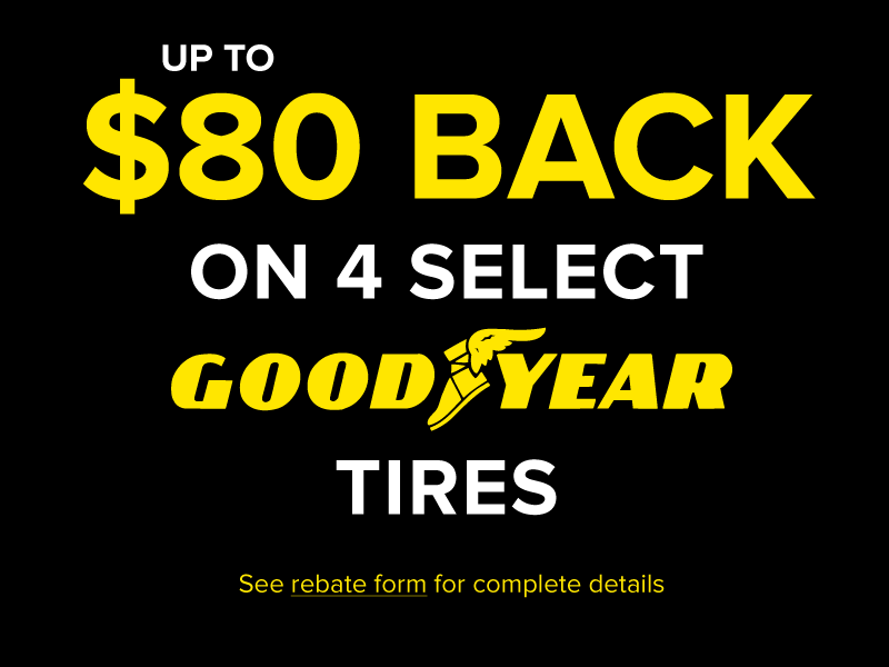 Up To $160 Back on Goodyear and Cooper